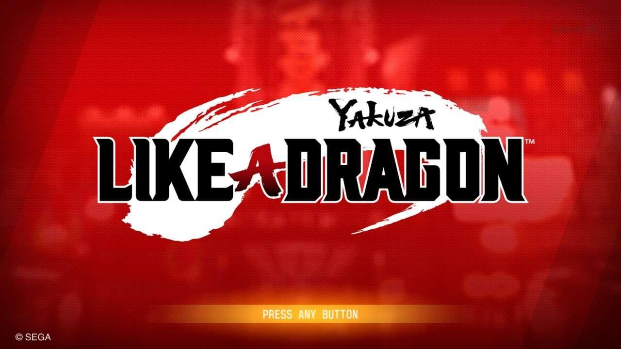 Yakuza Like a Dragon Title Screen