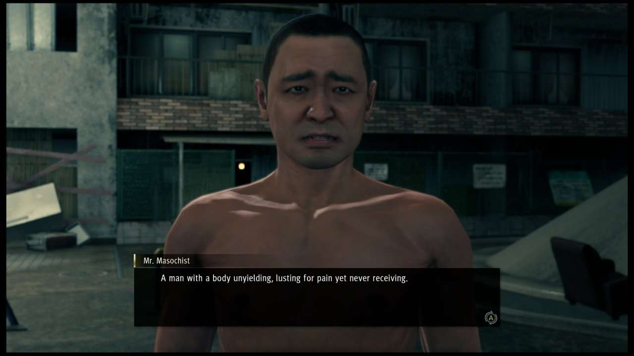 Yakuza Like a Dragon Shirtless Man