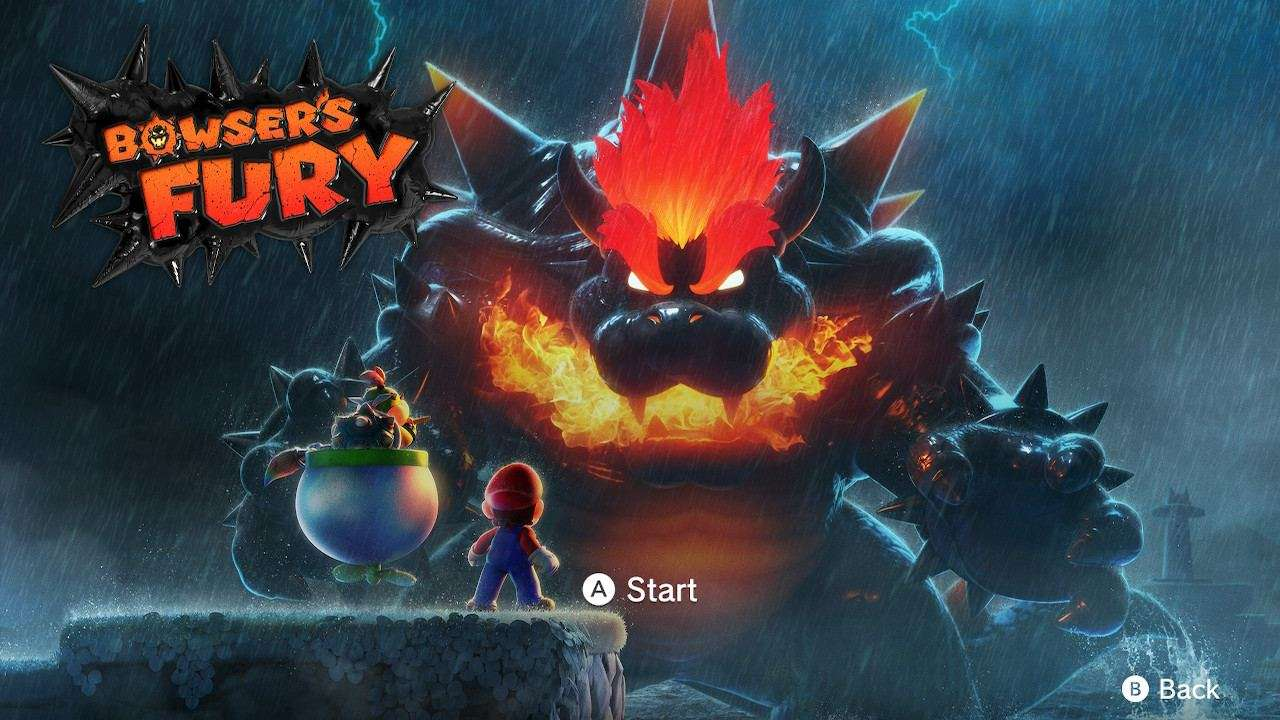 Bowsers Fury Title Screen