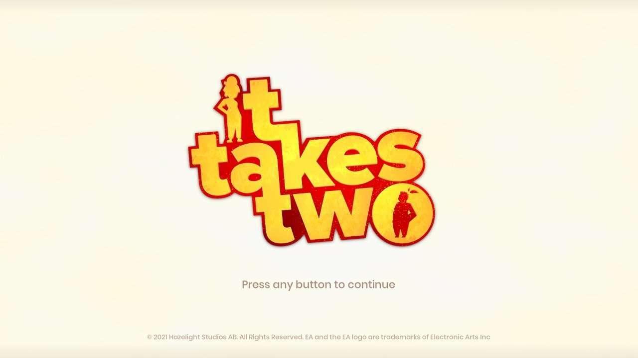 It Takes Two Title Screen