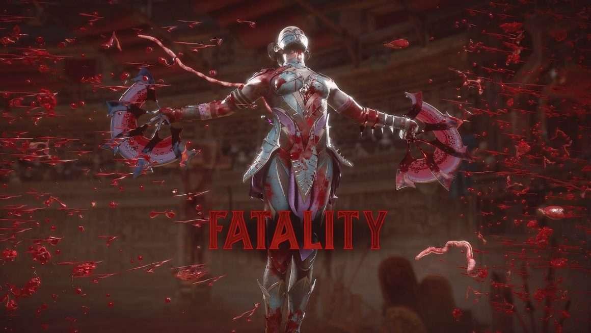 Kitana Fatality Screen from Mortal Kombat 11