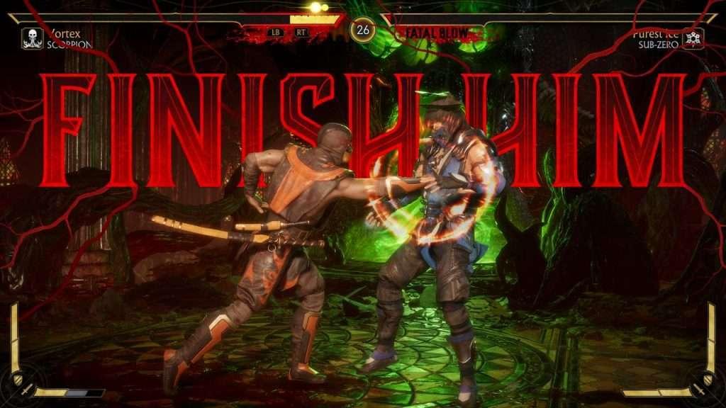 Finish Him screen in Mortal Kombat 11