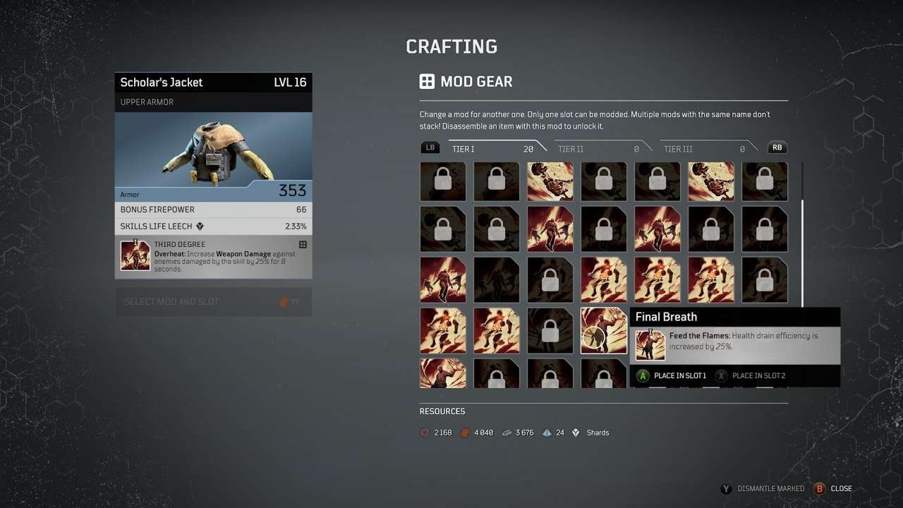 Outriders Gear Modding System