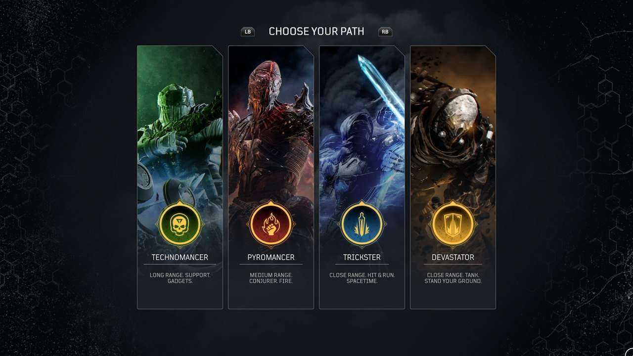 Outriders Playable Classes