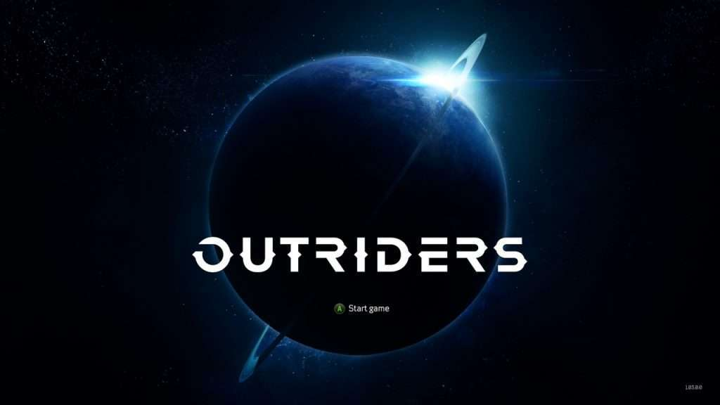 Outriders Title Screen