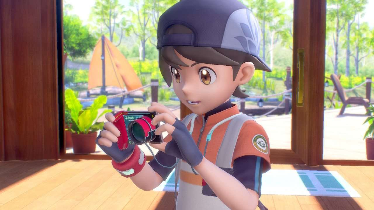 The main character recieves his camera in New Pokemon Snap