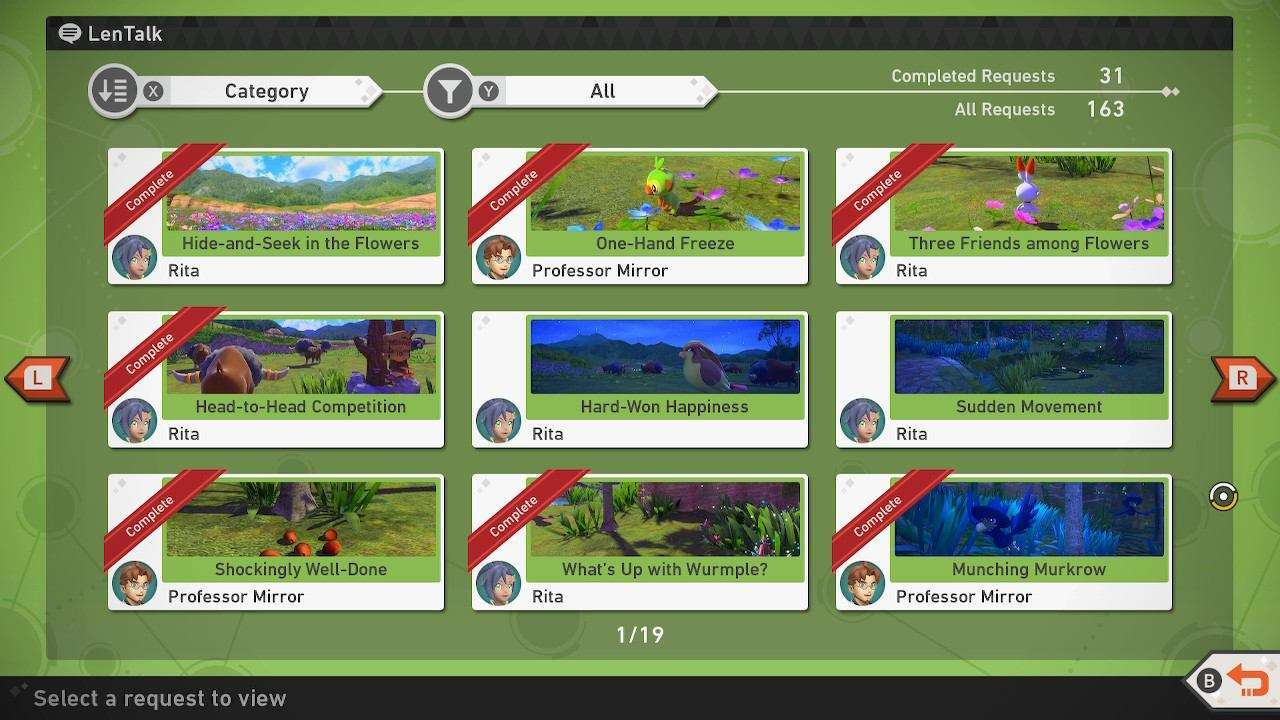 Photo Request System in New Pokemon Snap