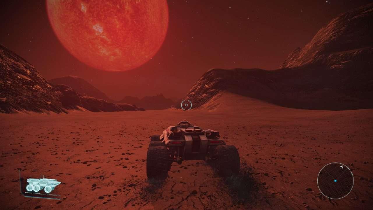 Driving the Mako Combat Vehicle Mass Effect 1