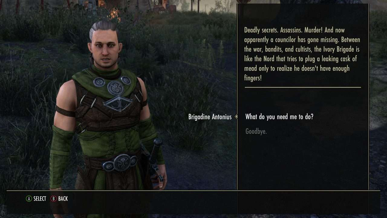 Elder Scrolls Online Blackwood Story