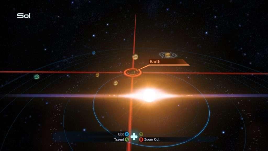 Solar System View Mass EFfect 1