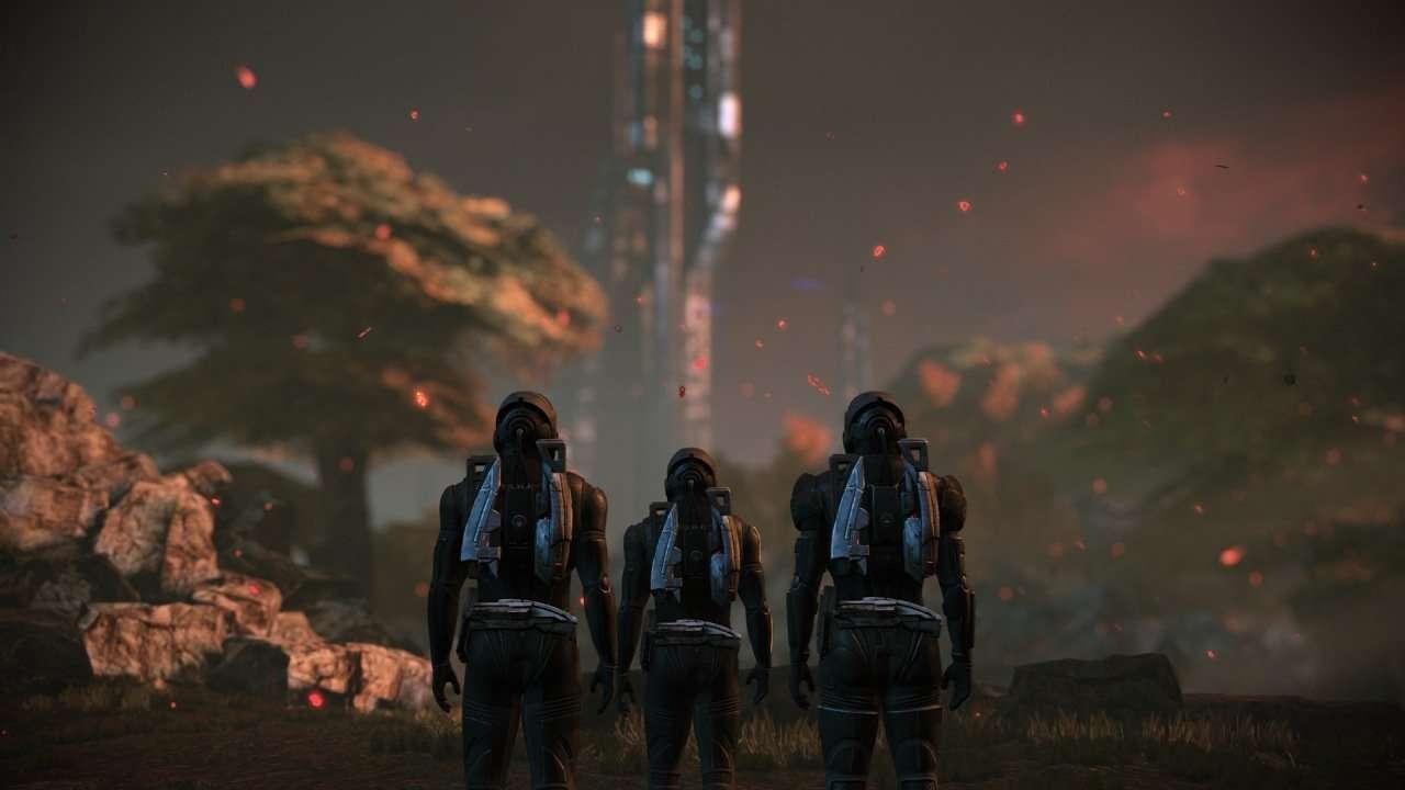 Team Lands on Eden Prime Mass Effect Legendary Edition