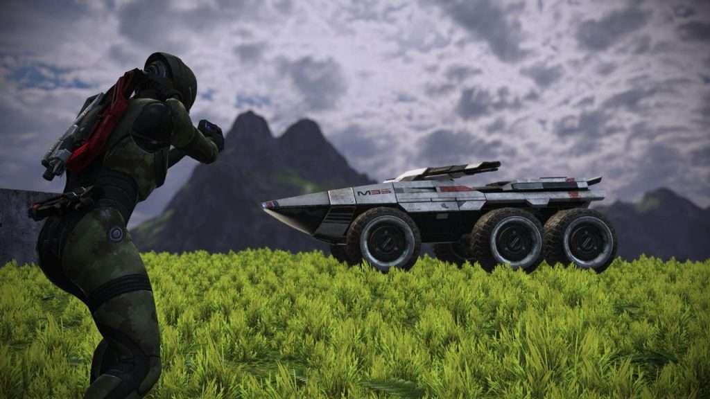 Mass Effect Mako and Commander Shepard