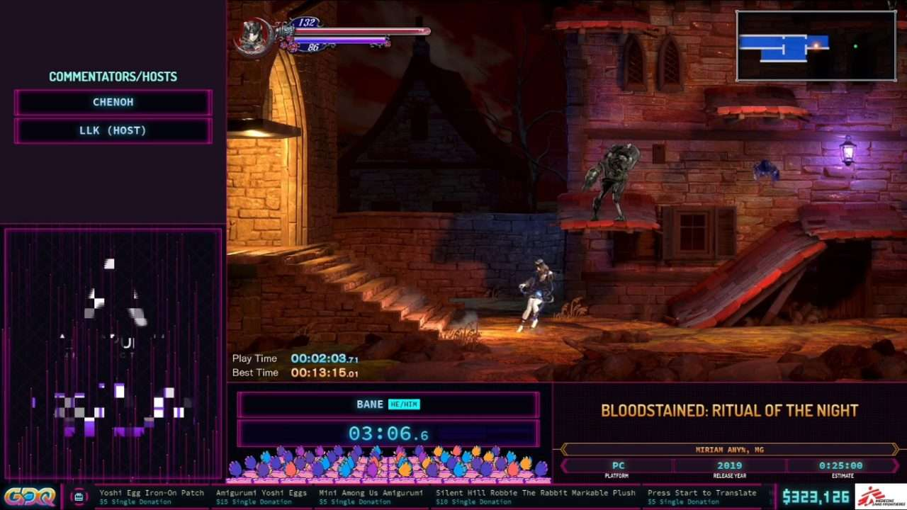 Bloodstained Ritual of hte Night at SGDQ 2021