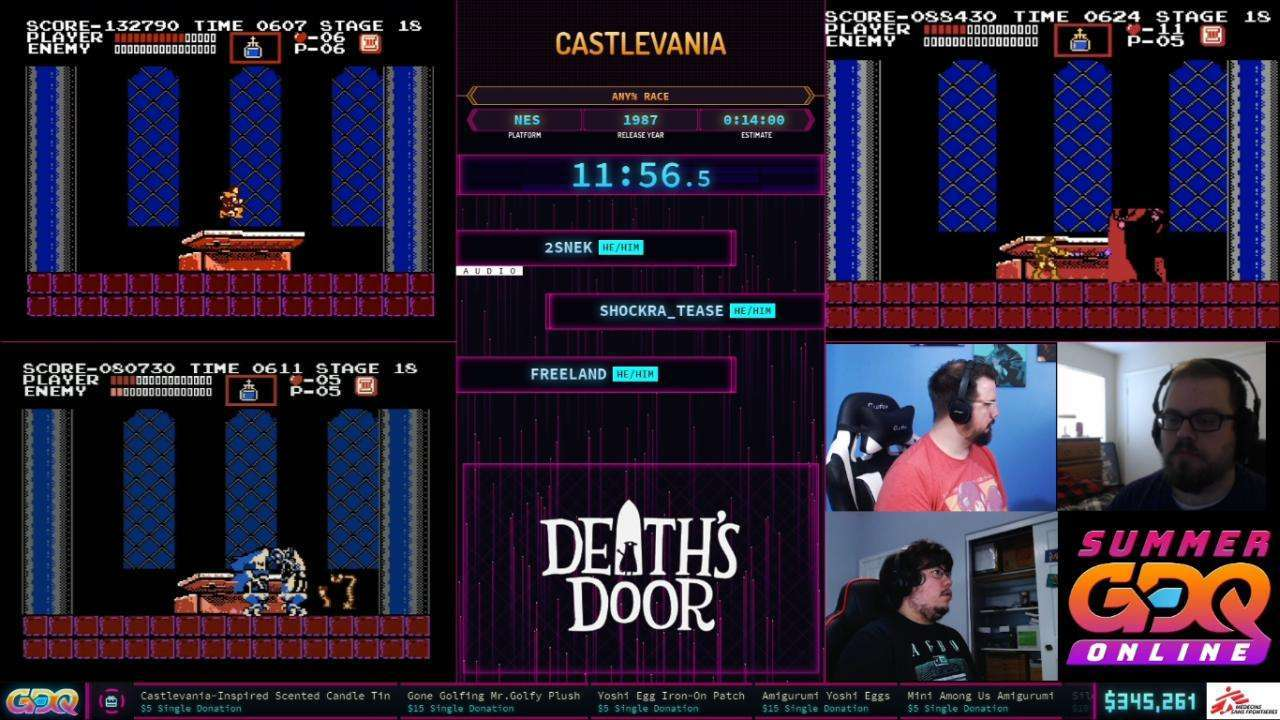 Castlevania Race at SGDQ 2021