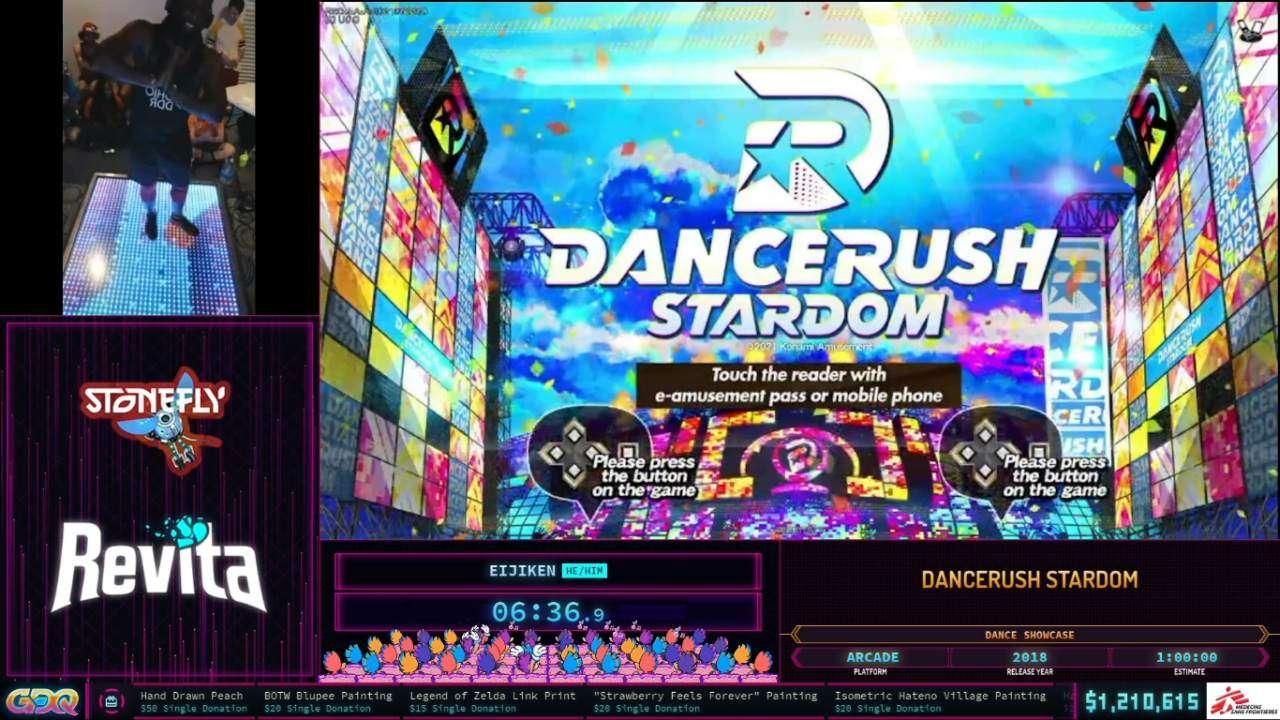 Dancerush Stardom showcase at SGDQ 2021