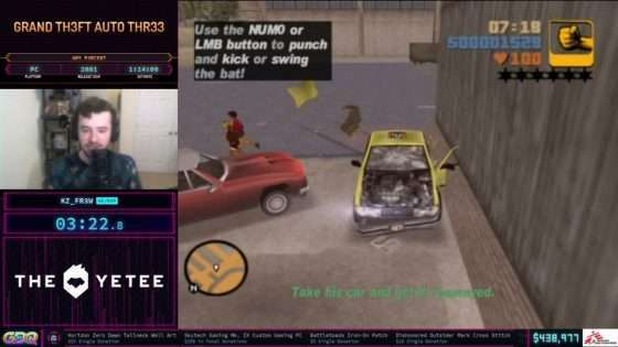 Grand Theft Auto III at SGDQ 2021
