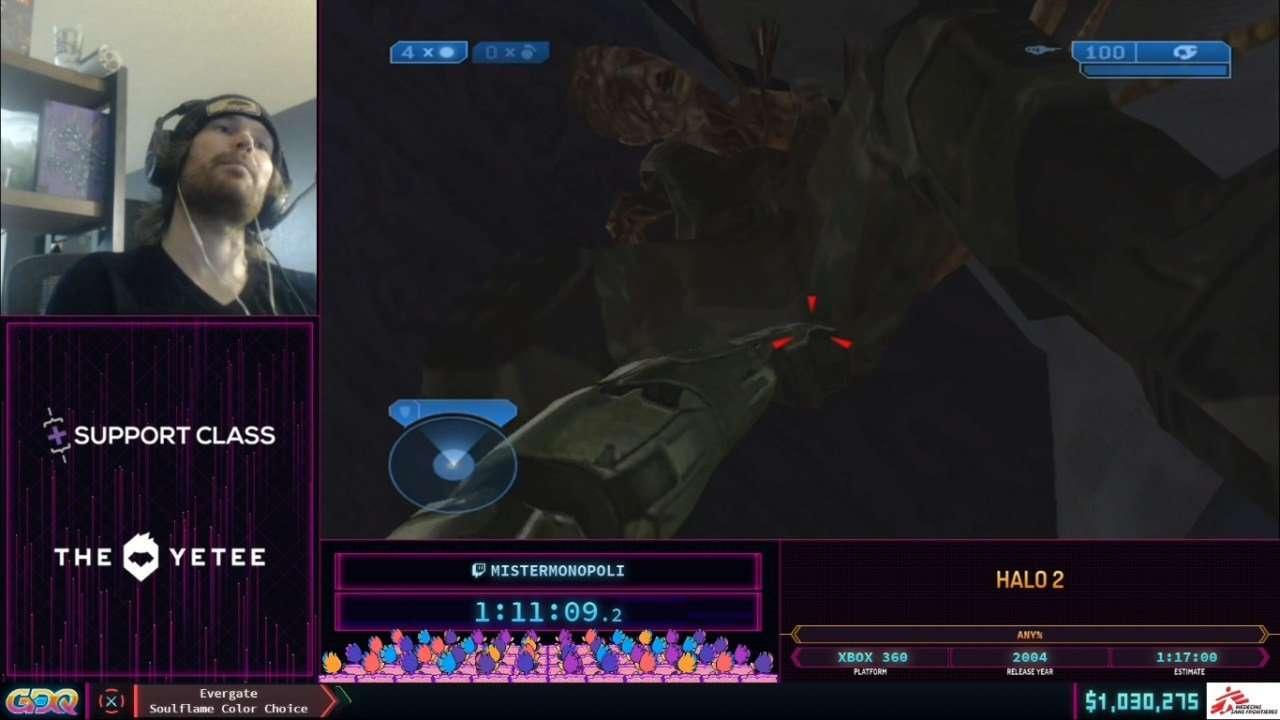 Halo 2 speedrun at SGDQ 2021