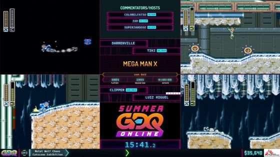 Mega Man X Speedrun Race at SGDQ 2021