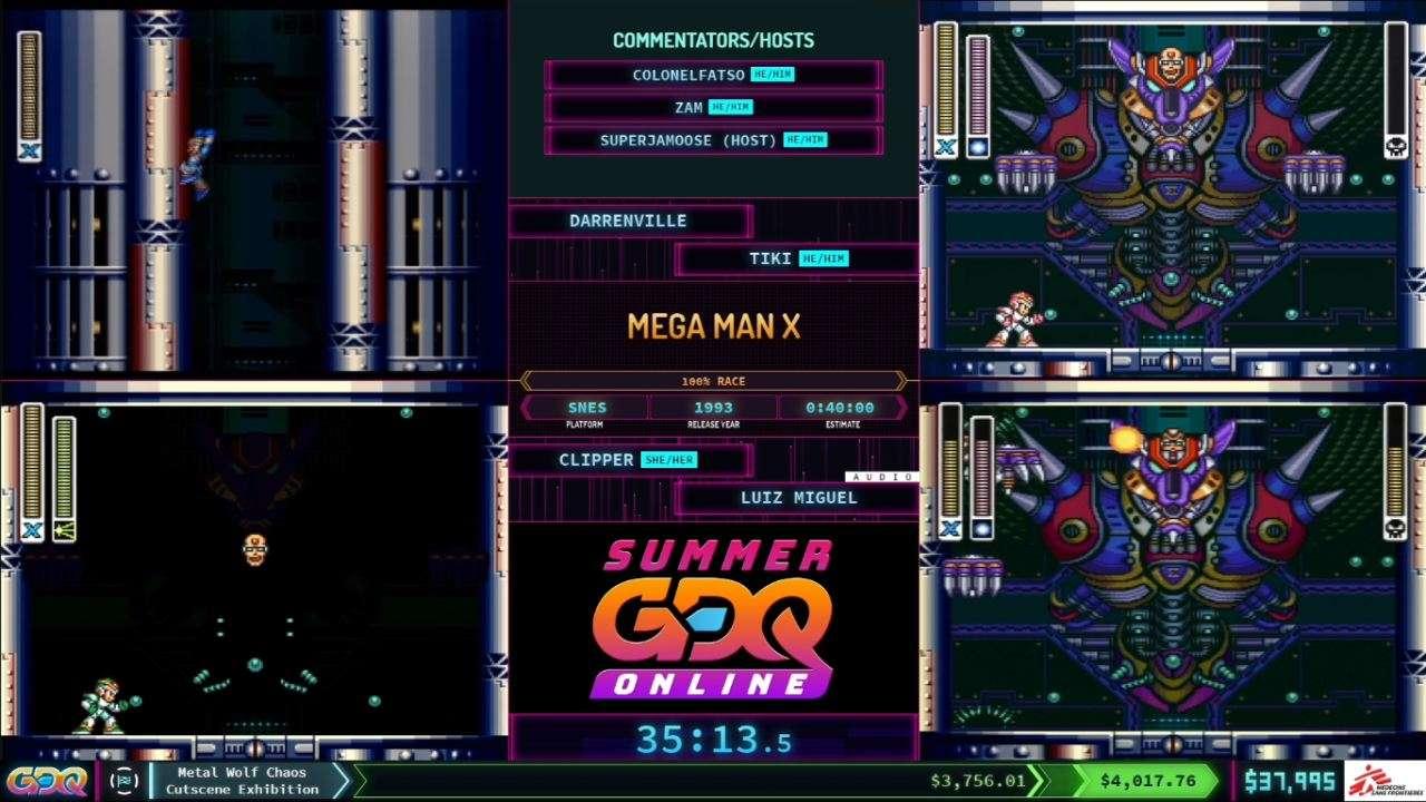 Mega Man X at SGDQ 2021