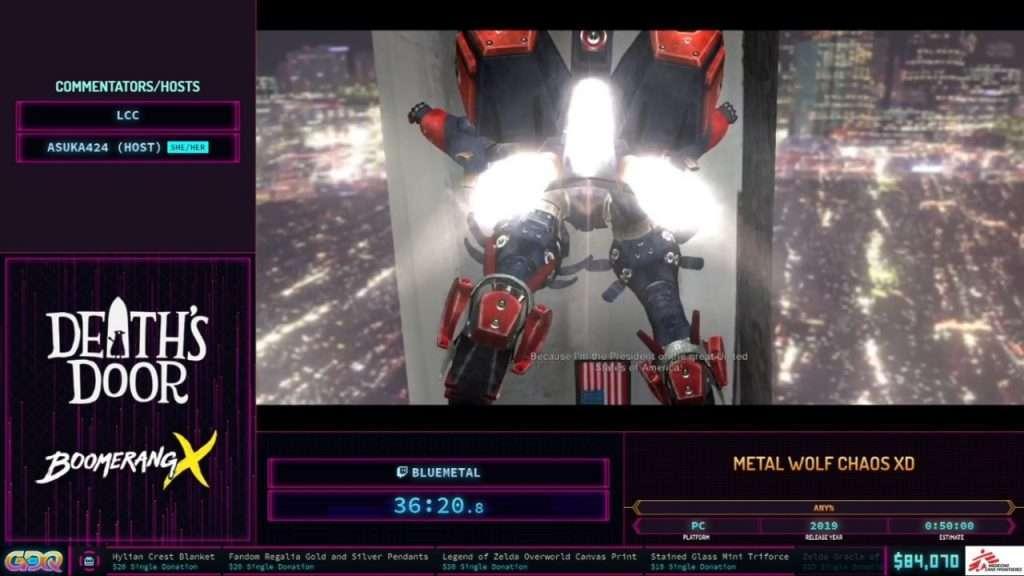 Metal Wolf Chaos XD at SGDQ 2021