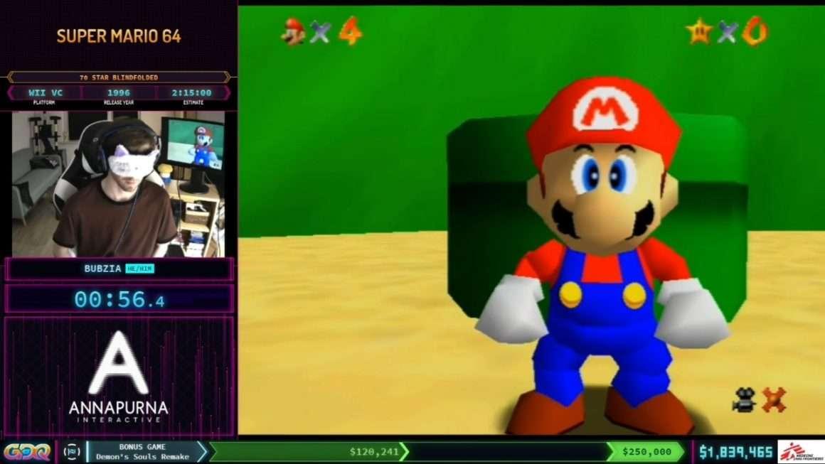 Super Mario 64 Blindfolded at SGDQ 2021