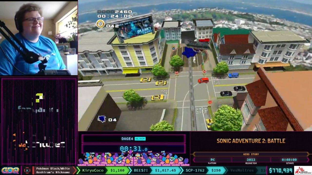 Sonic Adventure 2 Battle at SGDQ 2021