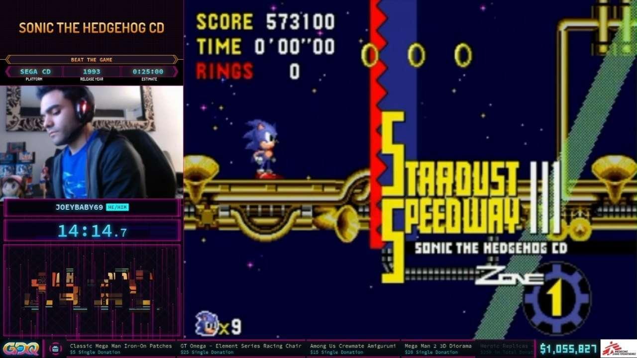 Sonic CD speedrun at SGDQ 2021