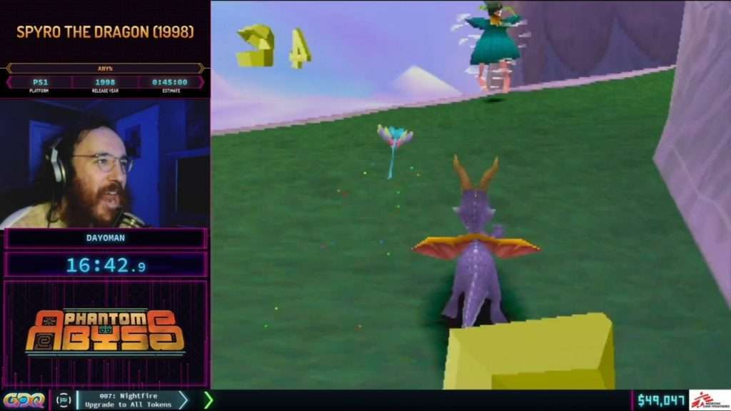 Spyro the Dragon at SGDQ 2021