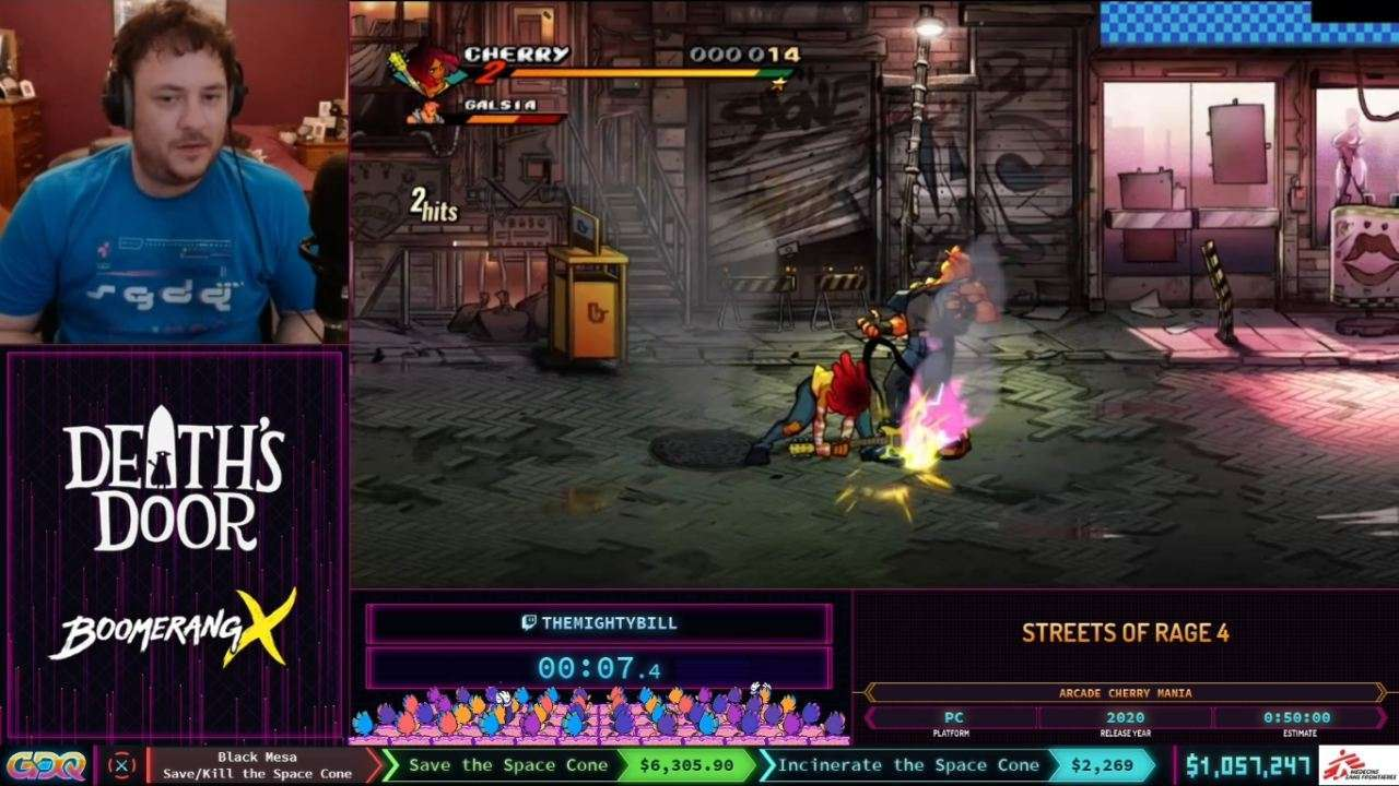 Streets of Rage 4 speedrun at SGDQ 2021