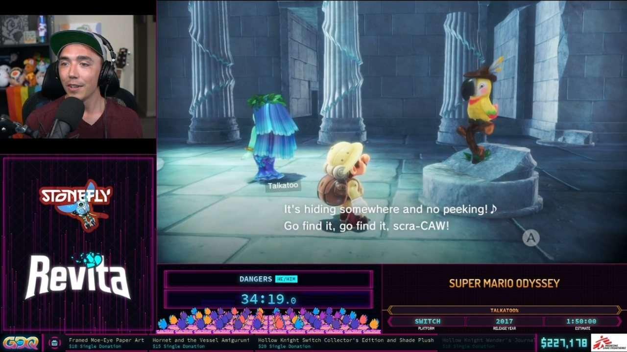 Super Mario Odyssey at SGDQ 2021
