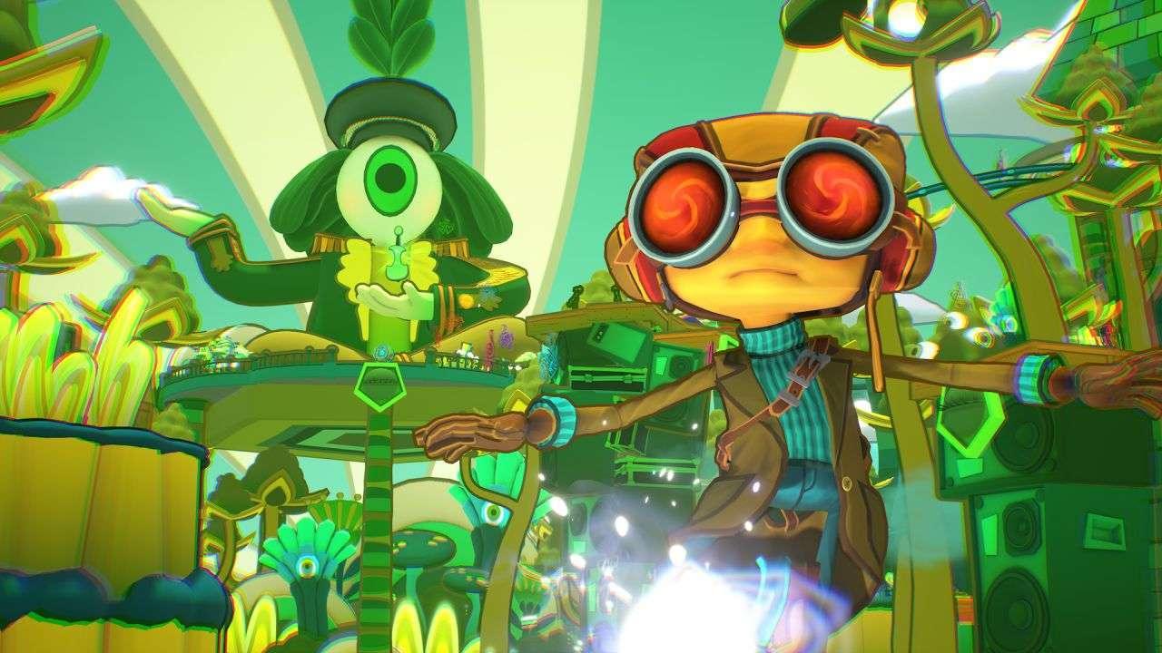Raz Explores the Eye Altar World in Psychonauts 2